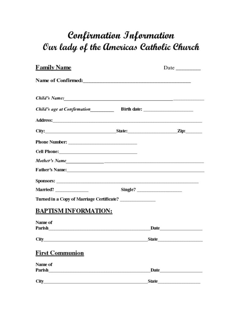 thumbnail of Sacrament Information Forms-Confirmation